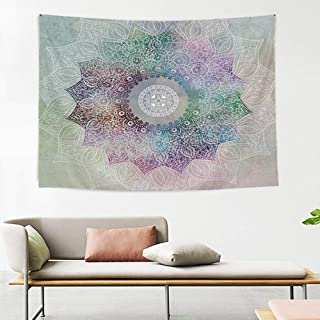 Mandala Tapestry Psychedelic Wall Tapestry Bohemian Flower Indian Dorm Decor for Living Room Bedroom 51x60 Inches, Color ...
