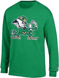 Elite Fan Shop Notre Dame Fighting Irish Long Sleeve Tshirt Leprechaun Kelly