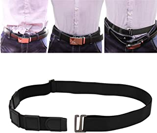Milylove Mens Shirt Stay Black Tuck It Belt Non-slip Wrinkle Bandage Super Belt for Formal