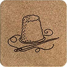 'Thimble & Thread' Square Cork Trivet / Pot Stand (TR00008159)