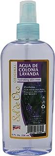 Lavender Water Spray Sol de Oro Cologne Lavanda 8 oz