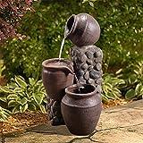 Peaktop - Fontaine d'eau de fontaine de pompe de cascade de jardin de décoration extérieure Caractéristique de l'eau VFD8210