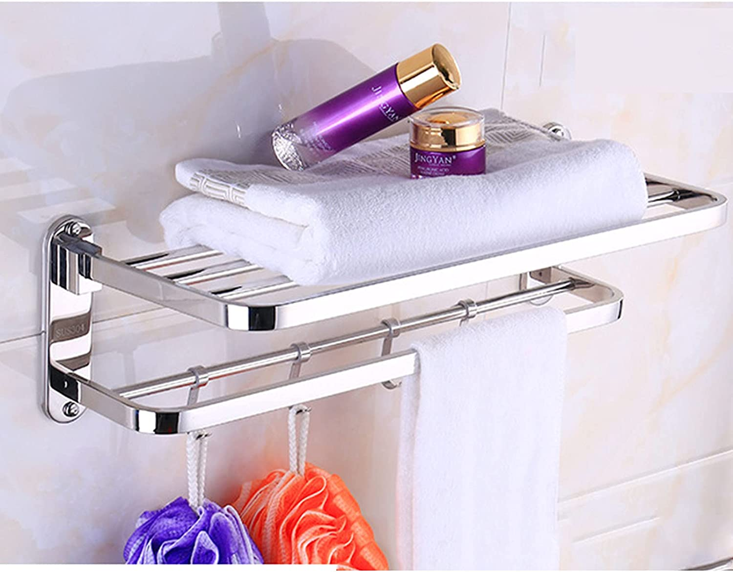 WENHM Limited price SUS 304 Stainless Steel Folding Bath Towel Rack Max 87% OFF Hotel Bat