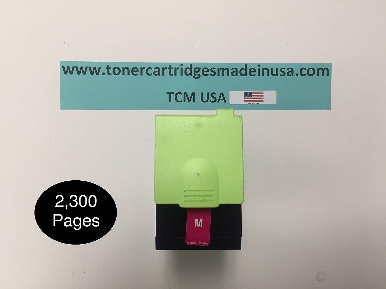 TCM USA CS317 Magenta CS417 CS517 CX317 CX417 CX517 AlternativeToner. Made in USA. Yields up to 2,300 Pages. Replacement for use in Lexmark CS317 CS417 CS517 CX317 CX417 CX517.71B10M0, 71B0030