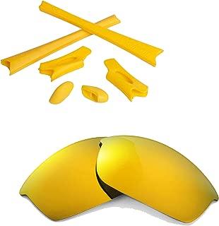 Walleva Replacement Lenses Or Lenses/Rubber Kit for Oakley Flak Jacket Sunglasses
