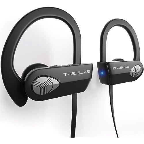 TREBLAB XR500 Auriculares con Bluetooth. Los Mejores Auriculares inalámbricos para Hacer Deporte IPX7 Impermeable,