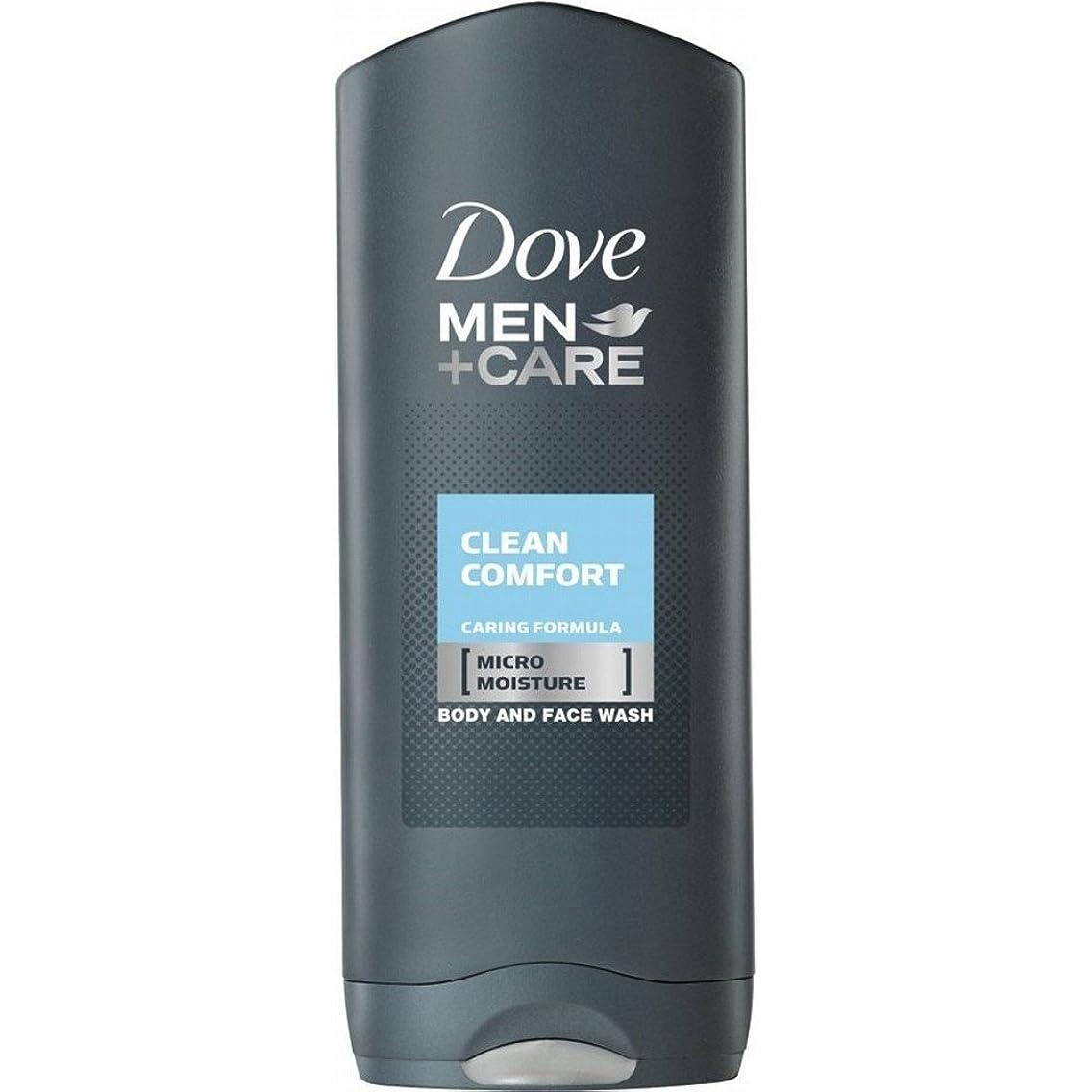 理想的には鷲眠るDove Men + Care Body & Face Wash - Clean Comfort (400ml) 鳩の男性は体と顔の洗浄ケア+ - きれいな快適さ( 400ミリリットル)を [並行輸入品]