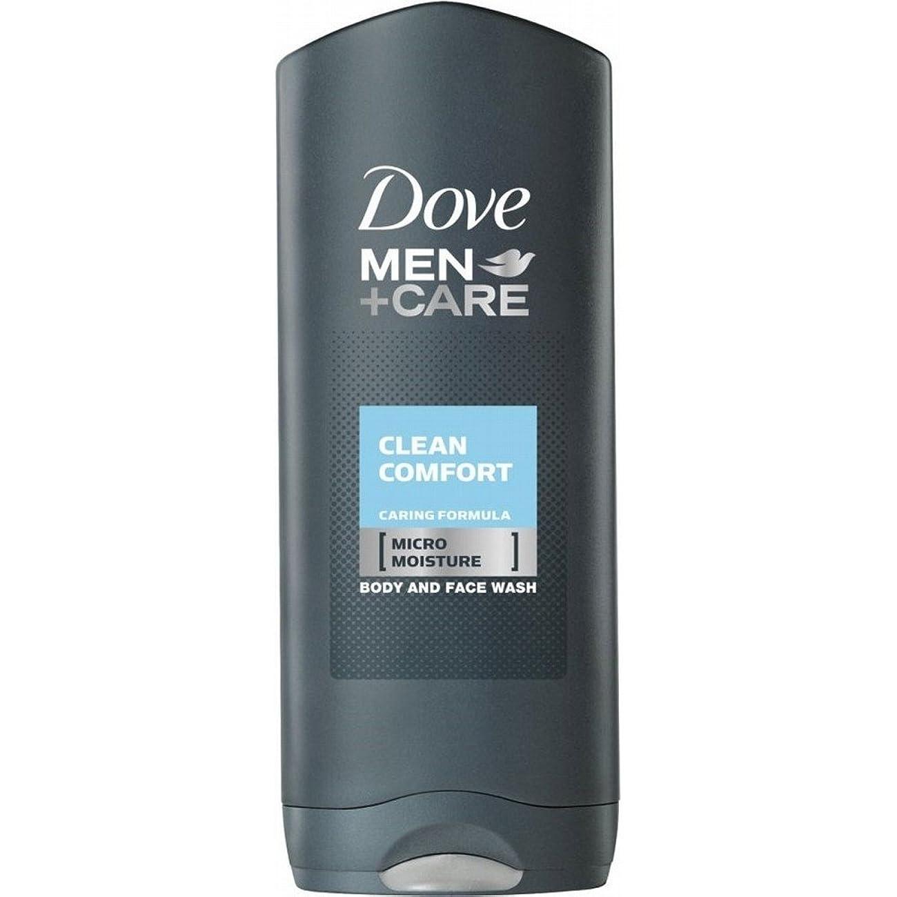 ペット制限アメリカDove Men + Care Body & Face Wash - Clean Comfort (400ml) 鳩の男性は体と顔の洗浄ケア+ - きれいな快適さ( 400ミリリットル)を [並行輸入品]