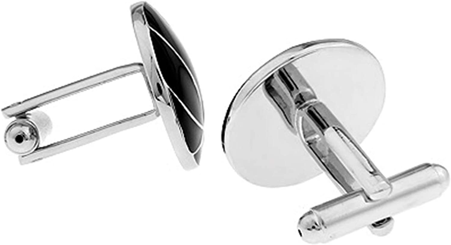 Daesar Cuff Link and Stud Set Cufflink Shirts for Men Basketball Black Cuff Links and Studs