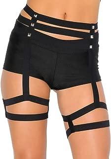 iHeartRaves Women's Strappy Leg Garter Studded Hip Harness
