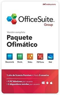 OfficeSuite Group Compatible con Office Word® Excel® y PowerPoint® y PDF para PC Windows 10 8.1 8 7 - Licencia de 1 año, 5 usuarios