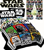 Jay Franco Disney Star Wars Classic Grid Comforter Sheets + Drapes (5pc Twin Size)