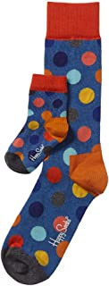 Happy Socks Unisex Big Dot Print Two Peas in a Pod Parent and Baby Matching Socks Gift Box Set