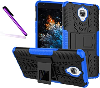 OnePlus 3T / OnePlus 3 Case, Tyre Pattern Design Heavy Duty Tough Armor Extreme Protection Case with Kickstand Shock Absorbing Detachable 2 in 1 Case Cover for OnePlus 3T, OnePlus 3. Hyun Blue