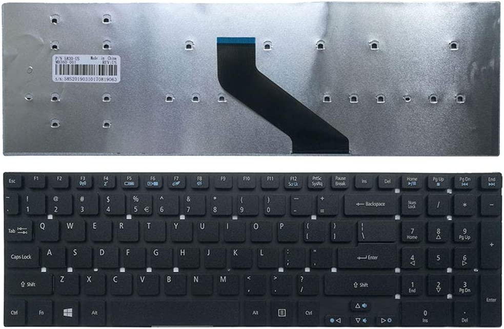 New Laptop Replacement Keyboard for Acer Aspire E5-511 E5-551 E5-511G E5-551G E5-571 E5-572 E5-572G E5-721 E5-731 E5-731G E5-771 E5-771G MP-10K33U4-6983 PK130IN1B00 US Layout