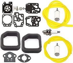 Panari Carburetor Repair Kit + Air Filter Fuel Line for Ryobi RY08544 RY08548 RY08574 RY08576 RY09903 RY09973 Homelite UT08514 UT08544 UT08546 UT08947 Backpack Leaf Blower