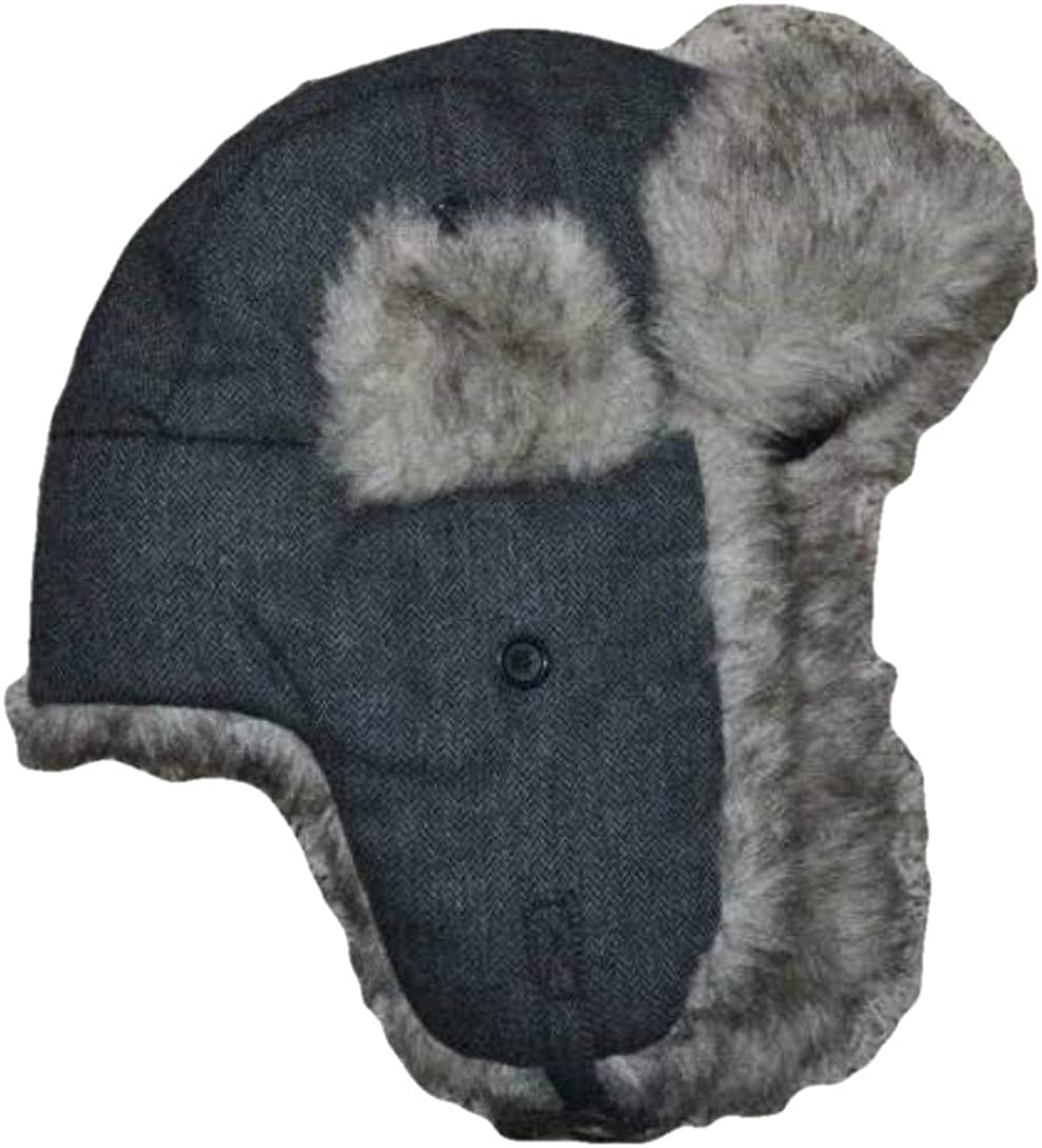Urban Pipeline Young Save money Mens Gray Factory outlet Solid Hat Cap Winter Trapper Knit