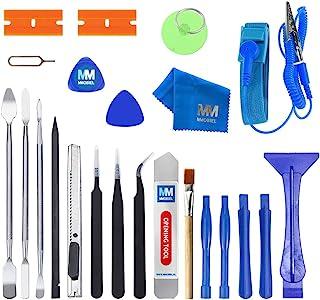 MMOBIEL 23 en 1 Kit Herramientas para reparación y Apertura de Moviles Tabletas y Otros, Juego con Pulsera antiestática.