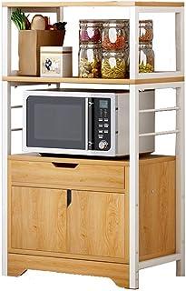 Support de four à micro-ondes Rangement De Cuisine Organisateur Cabinet En Métal Four À Micro-Ondes Support Rack Cuisine E...