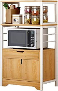 Panjianlin Rangement Cuisine Organisateur étagère Cuisine Stand étagère de Rangement Organisateur avec Armoire et des tiro...