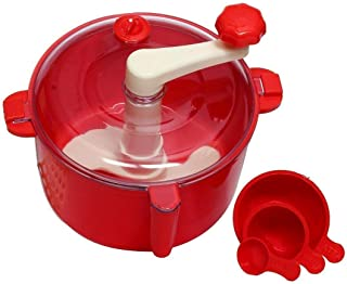 Dewberries Plastic Manual Automatic Atta Roti Dough Maker- for Home (Red)