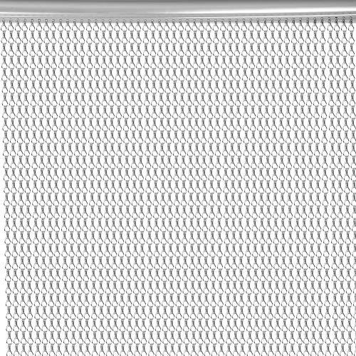 Zerone Fliegen-Insektenschutz Vorhang, 90x210cm Aluminium kettenvorhang türvorhang fliegenvorhang terrassentür Fliegen-Schirm Insekt-Schirm, Silber
