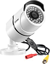 ZOSI 2.0MP FHD 1080p 1920TVL Security Camera Outdoor Indoor (Hybrid 4-in-1 HD-CVI/TVI/AHD/960H Analog CVBS),36PCS LEDs,100ft IR Night Vision,Weatherproof Surveillance CCTV Bullet Camera Housing