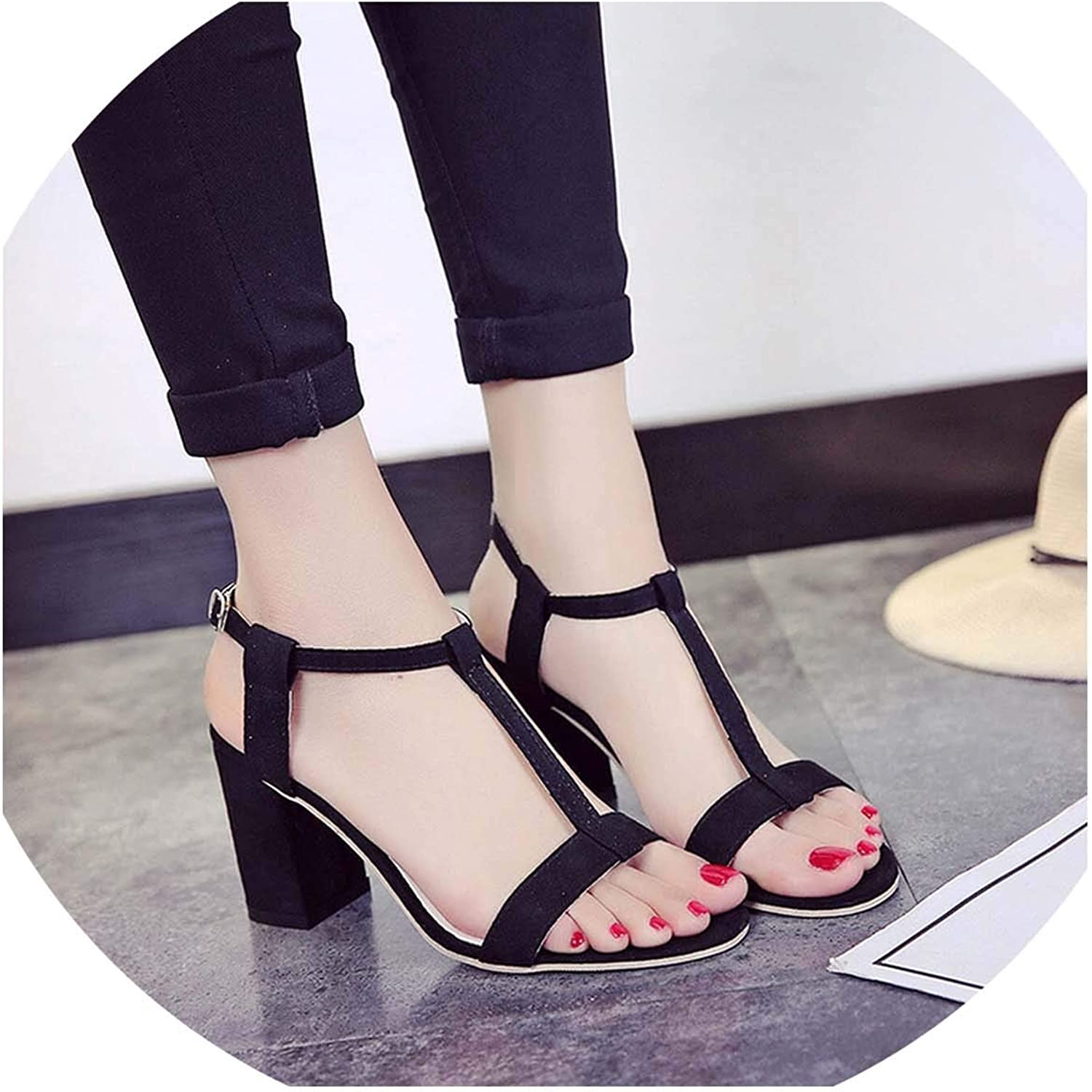 HuangKang Women Sandals Flats Sandals for Women Summer shoes 2019 New Women Open Toe