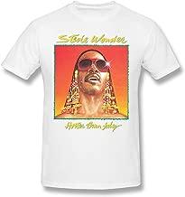 JENNIFERHARRISON Stevie Wonder - Hotter Than July Men Popular Short Sleeve Shirt Black