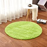 Round Area Rugs Solid Color Super Soft Living Room Bedroom Home Shaggy Carpet Multi-Color Multi-Size