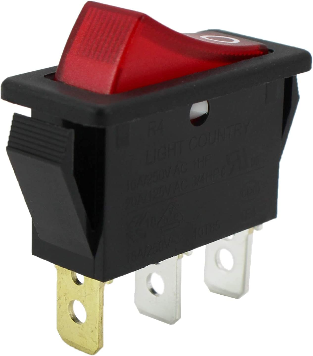 Rocker Switch Lighted On Off for Max 73% OFF free Ele FMI Volt 120927-24 120 Desa