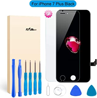 for iPhone 7 Plus Screen Replacement - LCD Display 3D Touch Screen Digitizer Frame Full Assembly with Repair Tool Kits and Screen Protector (Black 5.5 Inch)