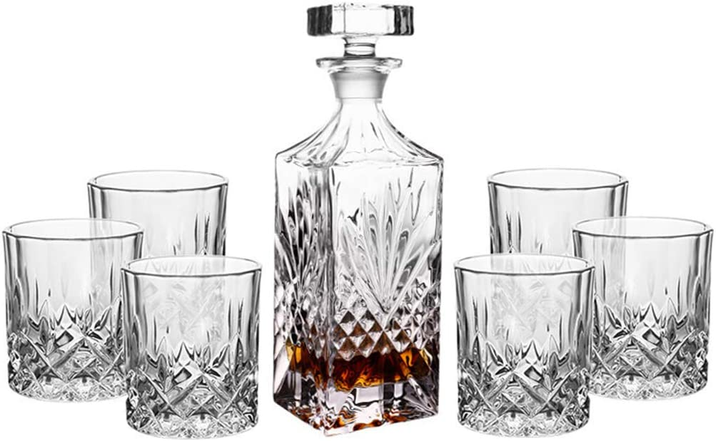DONGSHUAI All items in the Max 46% OFF store 7-Piece Whiskey Set Crystal Decanter