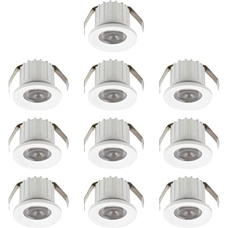 SIGMALED LIGHTING PACK 10 MINI SPOT LED 3W, LED dimmable 300lumens, angle 30°,Ø35x25mm, spot LED lumiere blanche naturelle 4000K, alimentation directe 230V, 5 boîtes de 2 pièces, classe énergétique A+