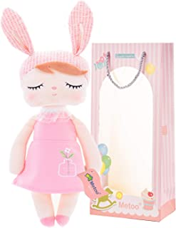 Plush Baby Bunny Doll Girl Gifts Soft First Dolls Angela New Orange 13 Inches