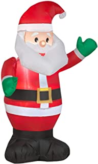 ESG Warehouse 3.51 Ft Santa Claus Inflatable Christmas Outdoor Yard Decor Pre-Lit LED Airblown Holiday Decorations
