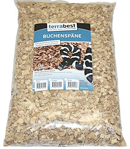 Buchenspäne mittel 2-6 mm 10 Liter Buchenhack Bodengrund Einstreu Terrarium