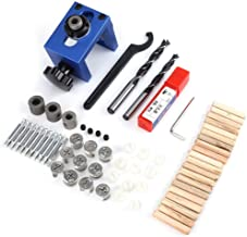 Guía de Taladro - Agujero para clavija de madera Guía de taladrado Jig Broca Kit Carpintería Carpintería Posicionador Localizador Herramienta