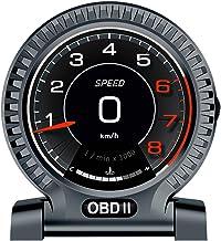 Zwbfu Instrumento LCD OBD do carro Velocímetro de alta definição Ferramenta de diagnóstico do carro OBDⅡ Eliminação do cód...