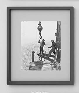 Historic Photos 1931 Photo Two Iron Workers Straddle Steel girders on top of The Empire State e8