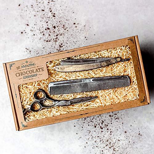 Erstaunliche realistische Schokoladenfriseur-Geschenkbox - Scheren-, Kamm- und Rasiermesser-Geschenkidee für Friseure - ideales Weihnachtsgeschenk, Hochzeits-, Geburtstags- oder Jubiläumsgeschenk