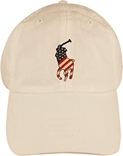 قبعة Polo Ralph Lauren Big Pony للرجال (مقاس واحد، أبيض (الولايات المتحدة الأمريكية)