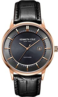 Kenneth Cole Men's Quartz Watch, Analog Display and Leather Strap KC50784004