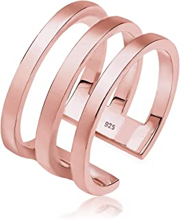 Elli Women 925 Sterling Silver wrapped Style Rose gold Plated Adjustable Ring 0604750717_54
