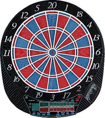 Elektronische Dartscheibe Excellence für bis zu 16 Spieler mit Turniermaß.