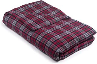 42 x 72-16 lb Red Grey Flannel Magic Blanket - The Blanket That Hugs You Back   World's 1st Weighted Blanket   Molds to Body for The Perfect Hug to Calm and Promote Sleep