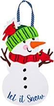 Evergreen Let it Snow Man Felt Door Décor