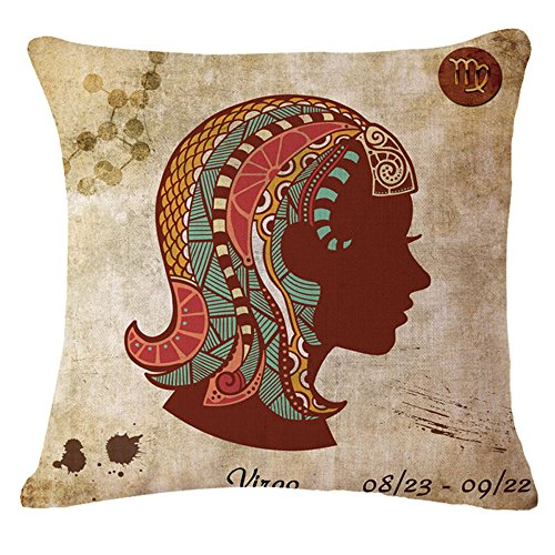 This vintage style pillow is perfect for gift ideas for a virgo woman.