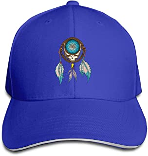 IKON Grateful Dead Wind Chimes Sandwich Adjustable Hat Custom Cap Ash