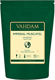 VAHDAM, 2019 Harvested- Imperial Darjeeling Tea Loose Leaf (50 Cups) | LIMITED EDITION MUSCATEL FLAVOUR - High Grown in Select Organic Tea Estates | 100% Certified Pure Unblended | 3.53oz